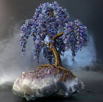 Wisteria on Amethyst by Twystedroots