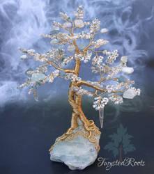Aquamarine gem tree