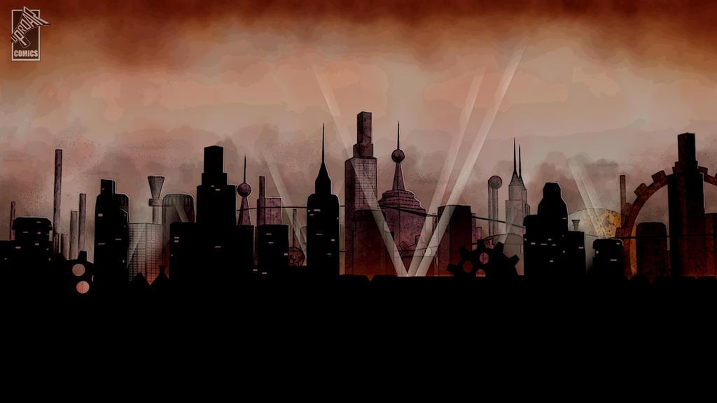 Steampunk Cityscape by Jonny-L on DeviantArt