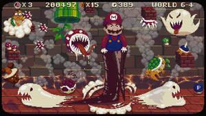 Mario adventure pixel art