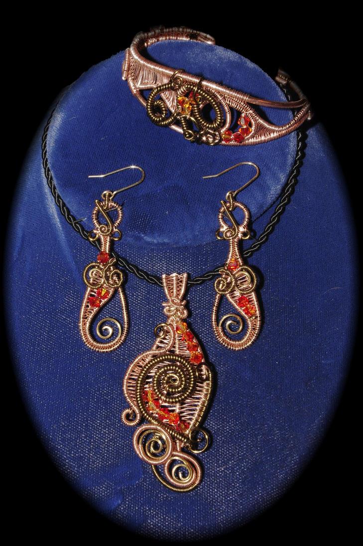 Wire Weave Jewelry Set by Digimom on DeviantArt
