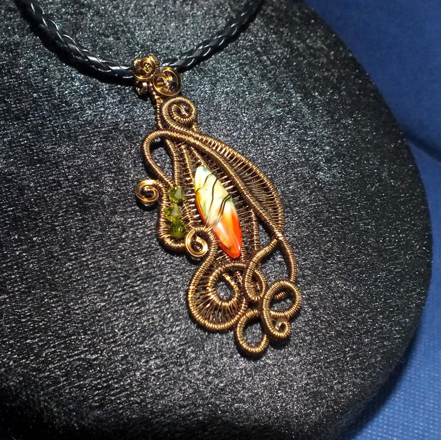 Wire Weave Pendant by Digimom on DeviantArt
