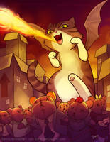 Catzilla by keevs