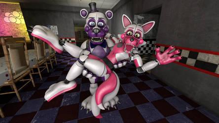Funtime Freddy and Funtime Foxy by MySuperSFM