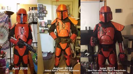 Evolution of my Mandalorian Armor by Delta253
