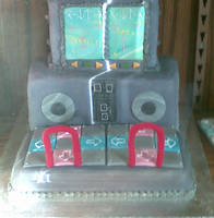 DDR machine cake by tanmei