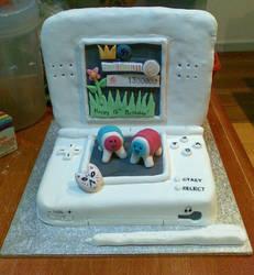 Nintendo DS Lite cake by tanmei