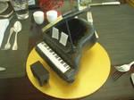 Grand piano cake.