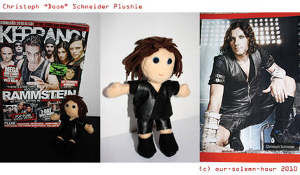 Christoph Schneider plushie by tanmei