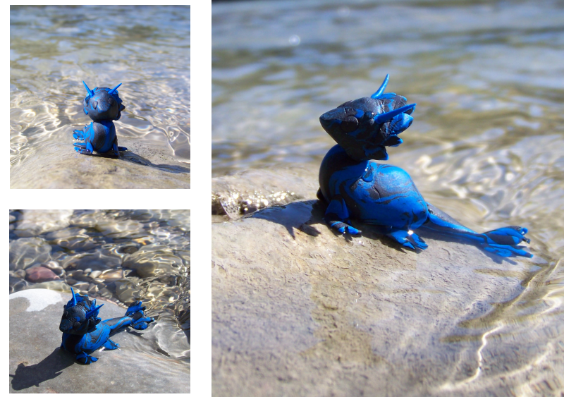Young sapphire Water Dragon