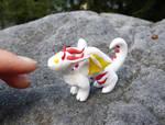 Albino Dragon on a rock