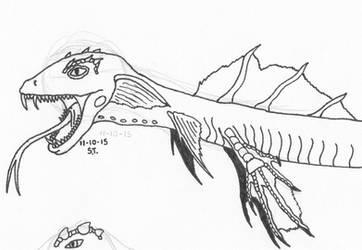 Alien species: Wyrm WIP by Agent-Sarah