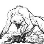 Commission: Crystal-la the Werewolf by Rythurmorn