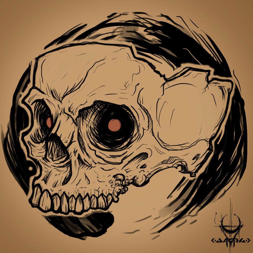 radioactive skull by daerh on deviantart