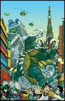 Mighty Daikaiju Gigan- color by PaulHanley
