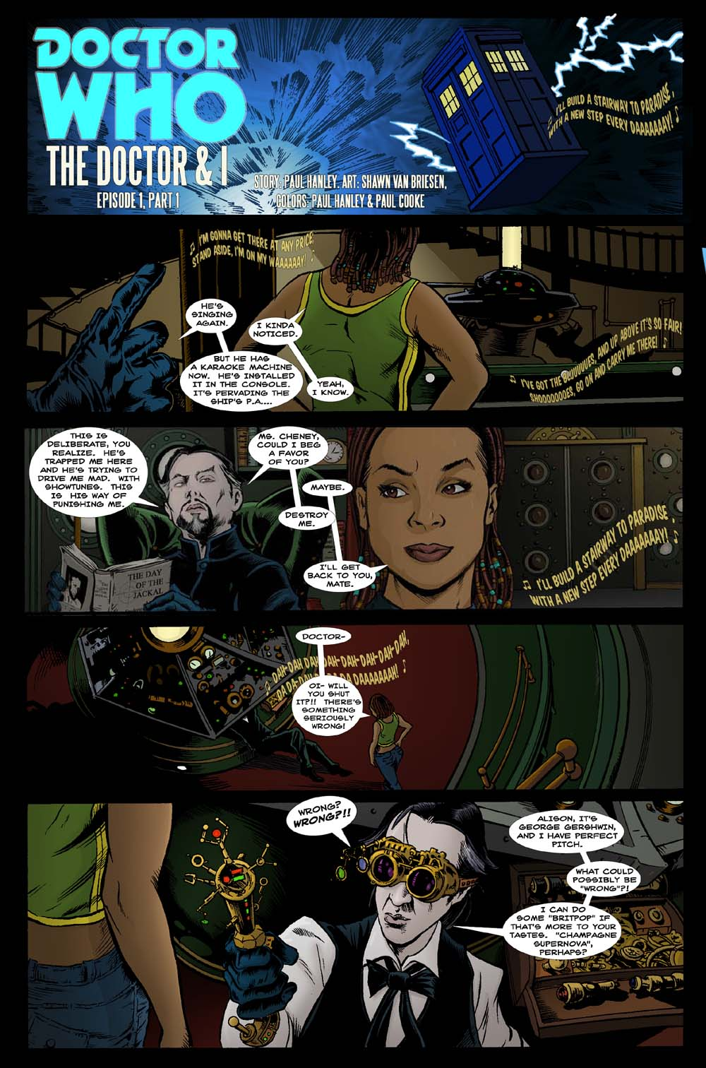 The Doctor and I- comic page 1 by PaulHanley