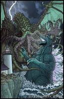 Godzilla Vs. Cthulhu by PaulHanley