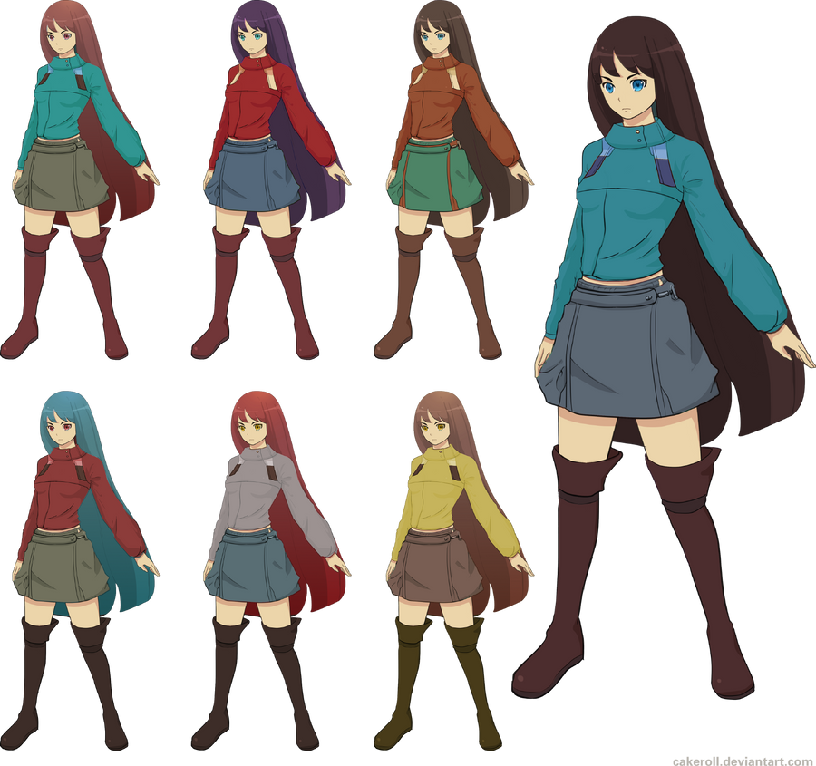 Color In Character Design : Character design sheet color sample by cakeroll on deviantart