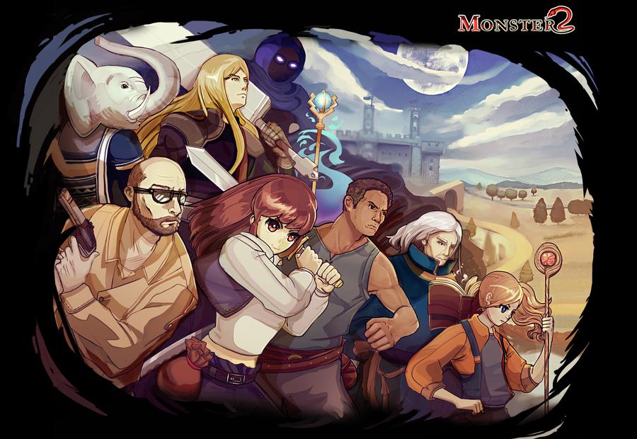 Monster 2 rpg artwork (updated) by cakeroll