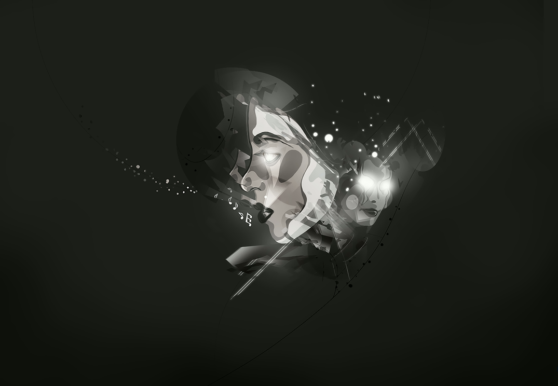 soul music deviantart abstract vector 2009