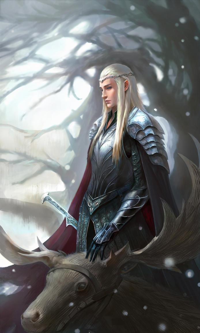 Winterly Mirkwood The_hobbit___thranduil_by_anima_08-d8ngd90