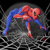 Spiderman PS4 costume by HornedNinja