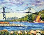 Lions Gate Bridge Oils by Dennis64