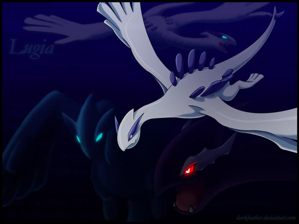 Lugia Vs Shadow Lugia The Movie Another Lugia Wallpaper by
