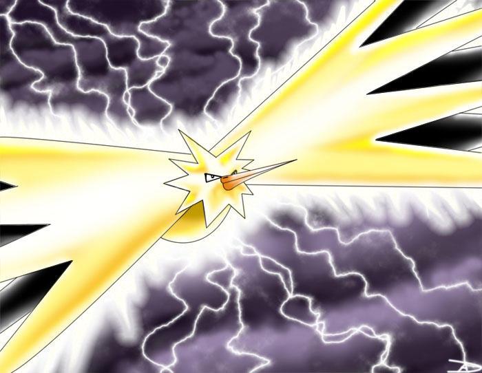 Titan of Lightning - Zapdos by DarkFeather
