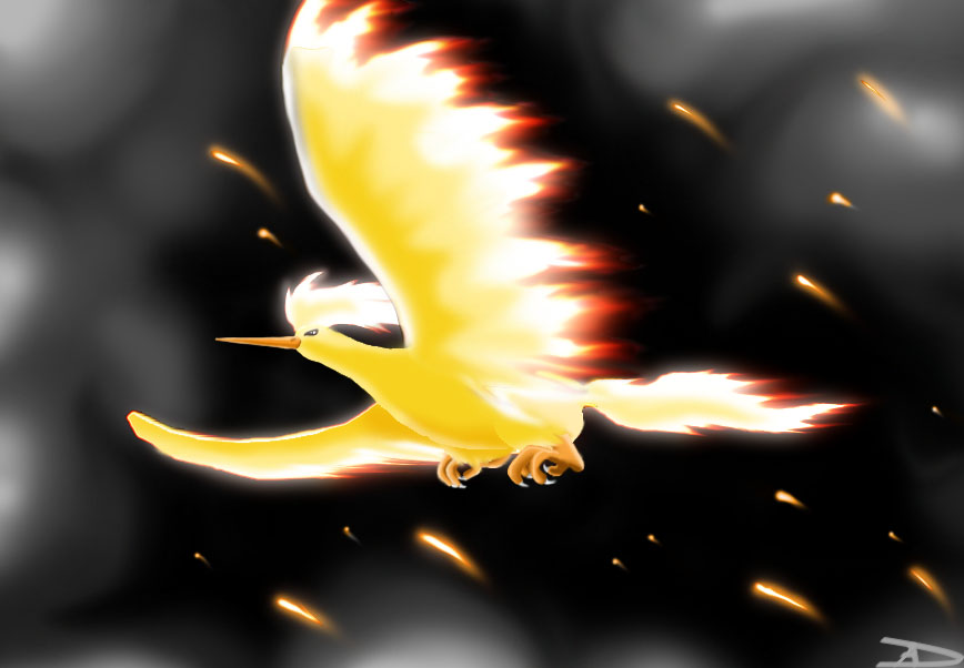 Titan Of Fire Moltres By Darkfeather On Deviantart