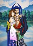 Romantic Yuna and Seymour by LotusDesert