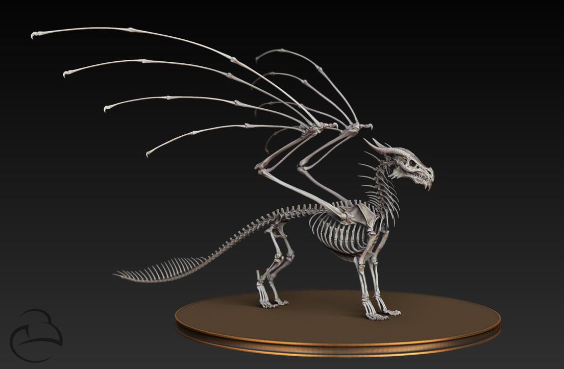 Misc - Dragon skeleton by Peet-B