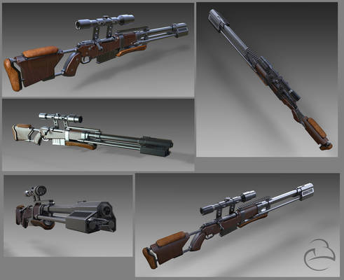 Concept rifle test renders