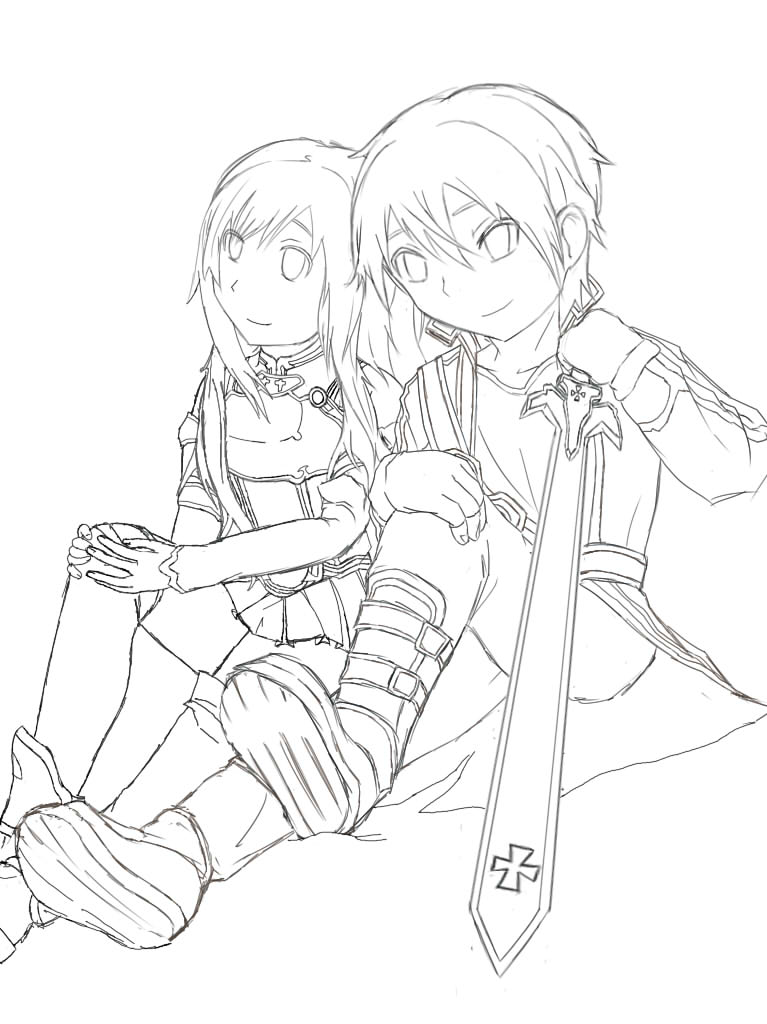 Sword Art Online Sketch By Ahrrhd On Deviantart