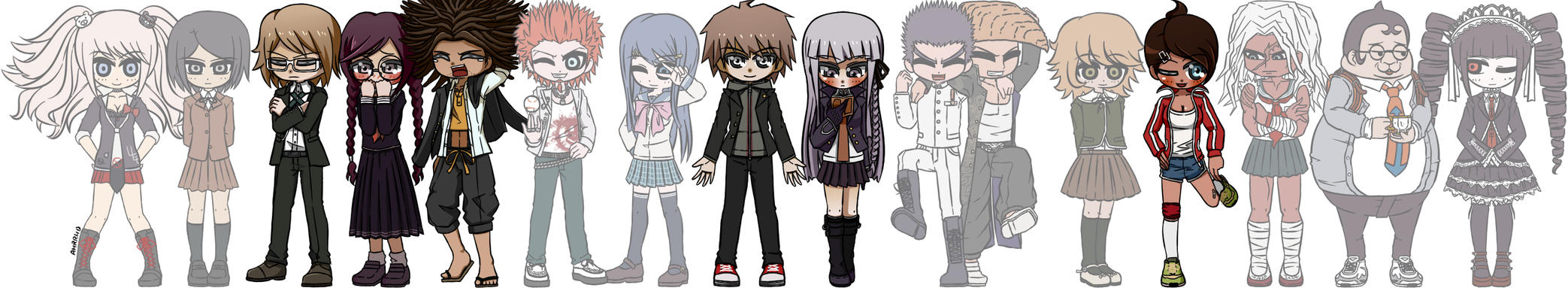 Danganronpa by Ahrrhd