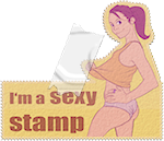 STAMP - I'm a sexy stamp by Erdosain84