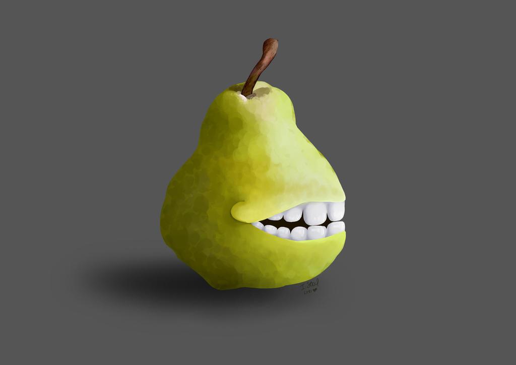 Grinning Pear Meme by LyricsANDImages