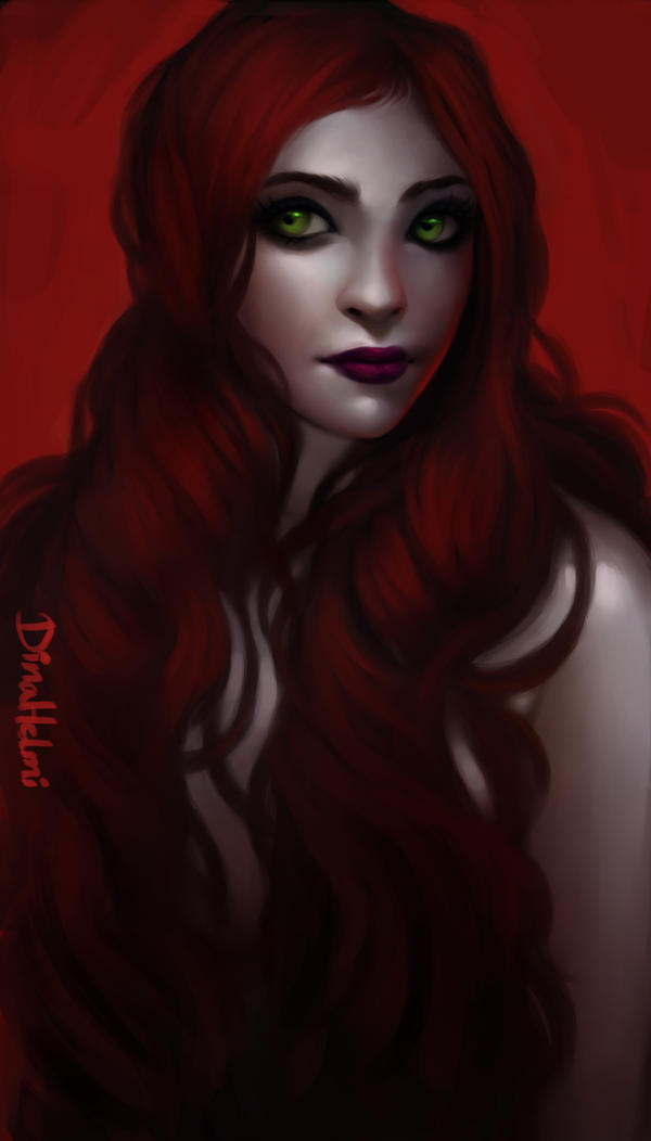 Blood Red Hair Natural