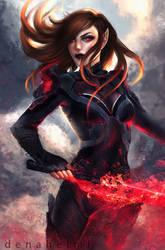 commission: Yaren Blademaster by DenaHelmi