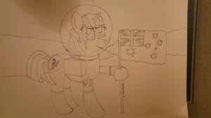 Treble Sketch on the moon