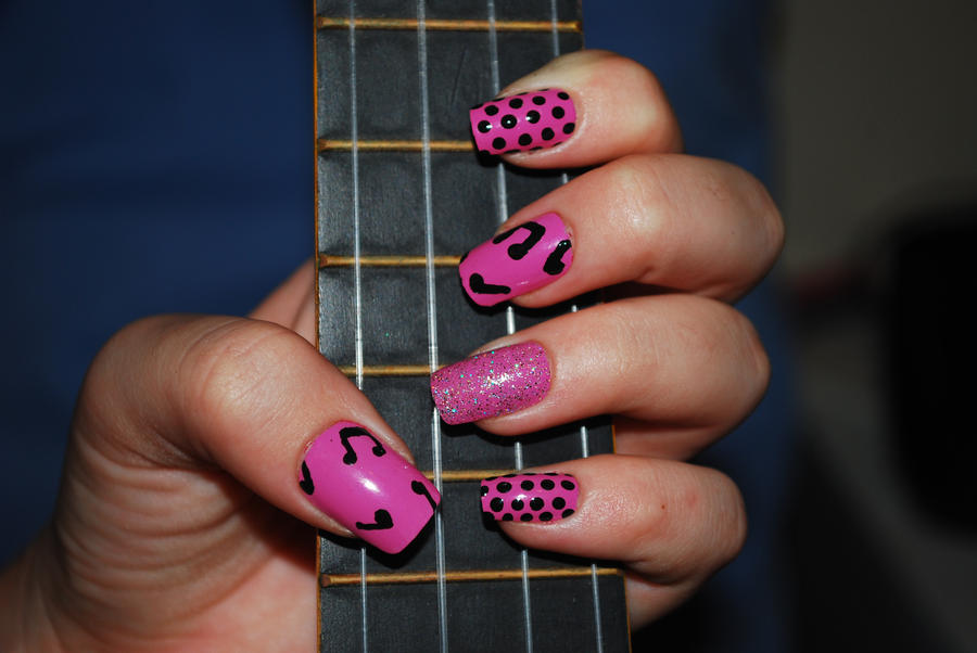 Music Notes nail art by Maynesss on DeviantArt