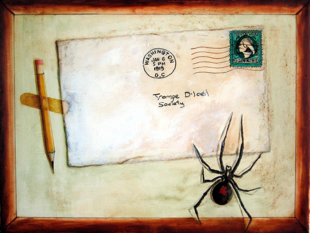 envelope trompe l 39 oeil by gruneerde on deviantart. Black Bedroom Furniture Sets. Home Design Ideas