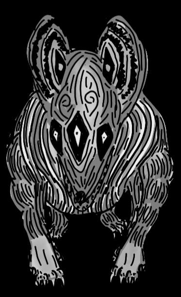 Spirit hound art trade for sarcasticdemonslayer