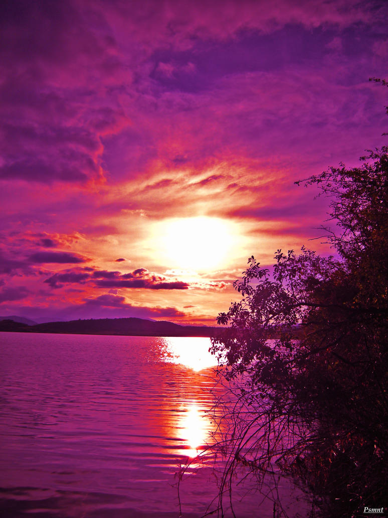 Purple sunset by PSMnt...