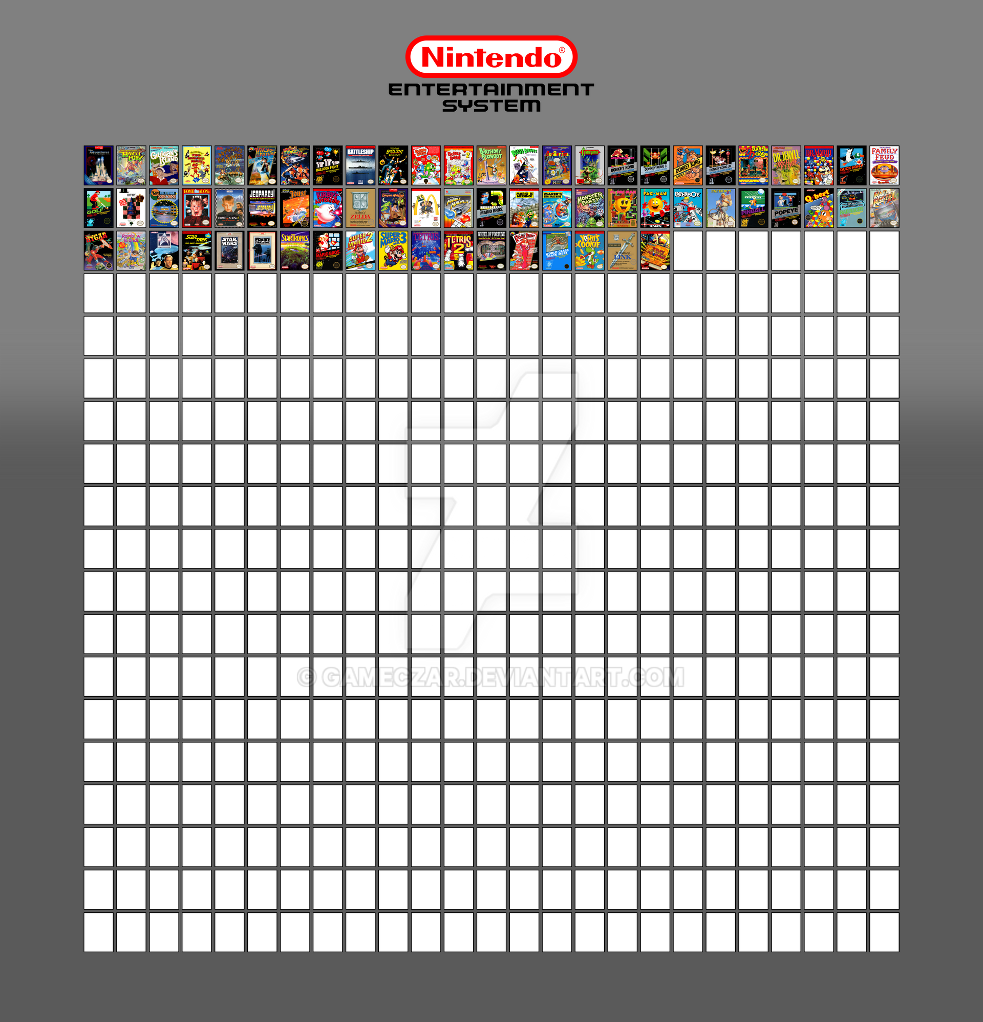 My NES Game Library [Meme] by GameCzar on DeviantArt
