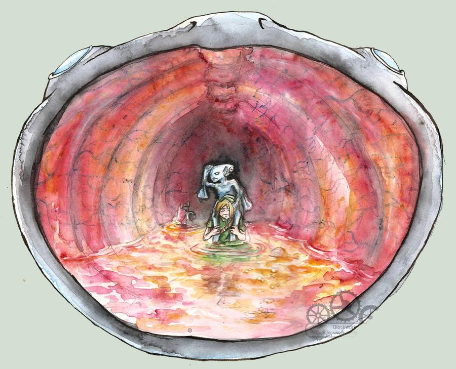 Inside Jabu-Jabu's belly by Qlockwork