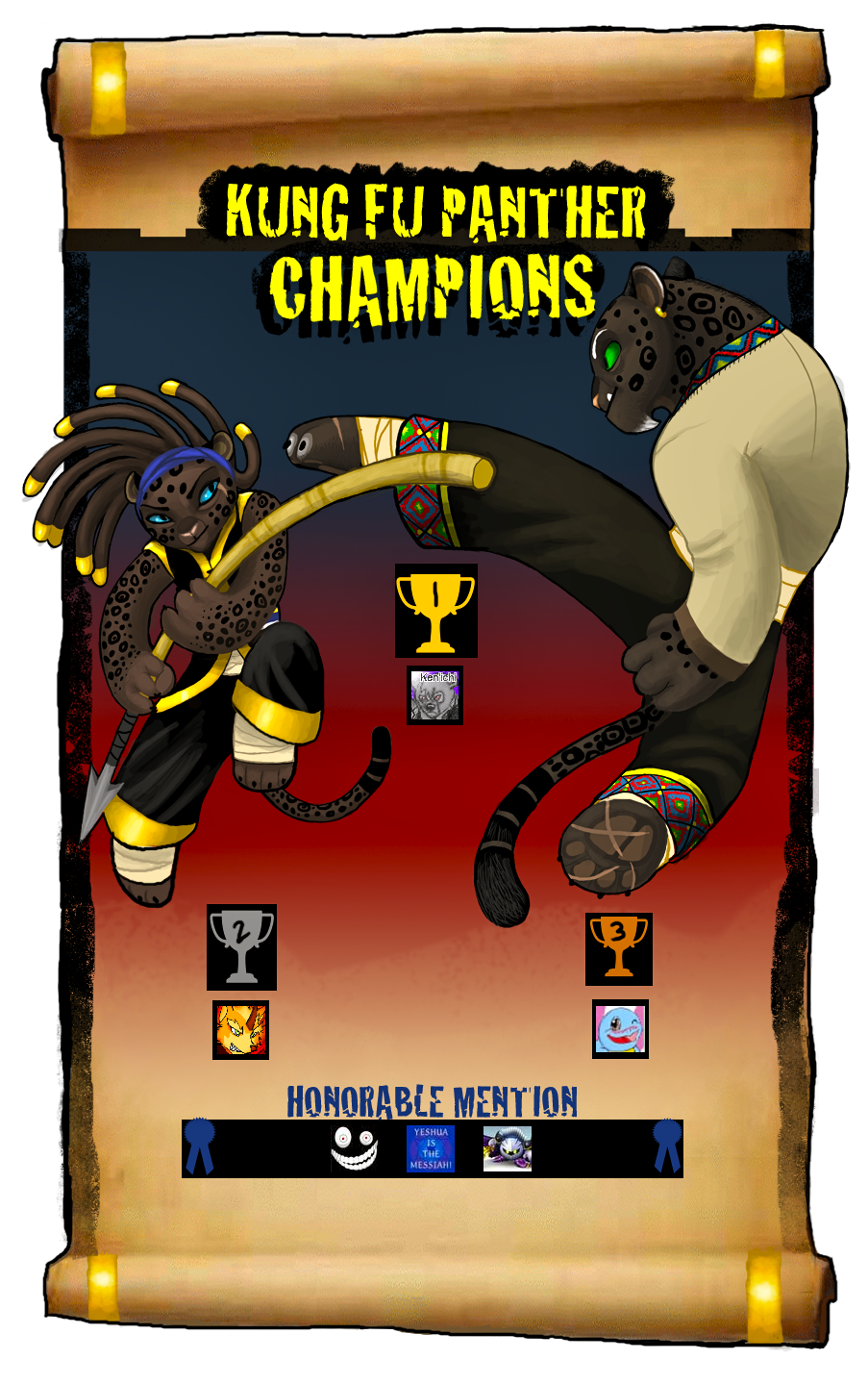 KUNG FU PANTHER CHAMPS by Rainroad