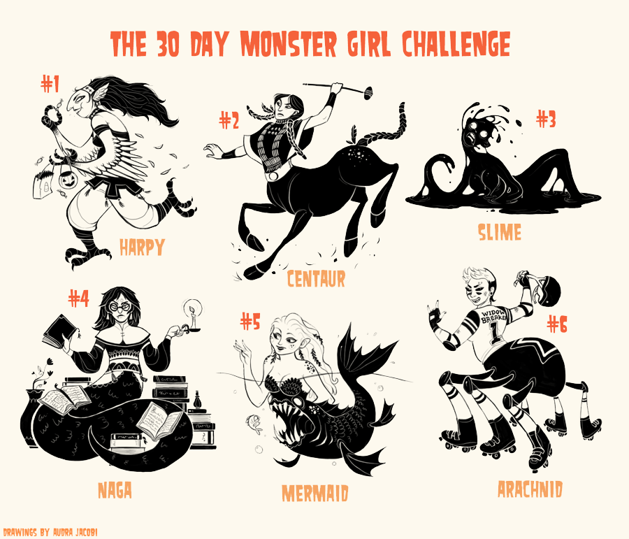 Monster Girl challenge 1-6 by Rainroad