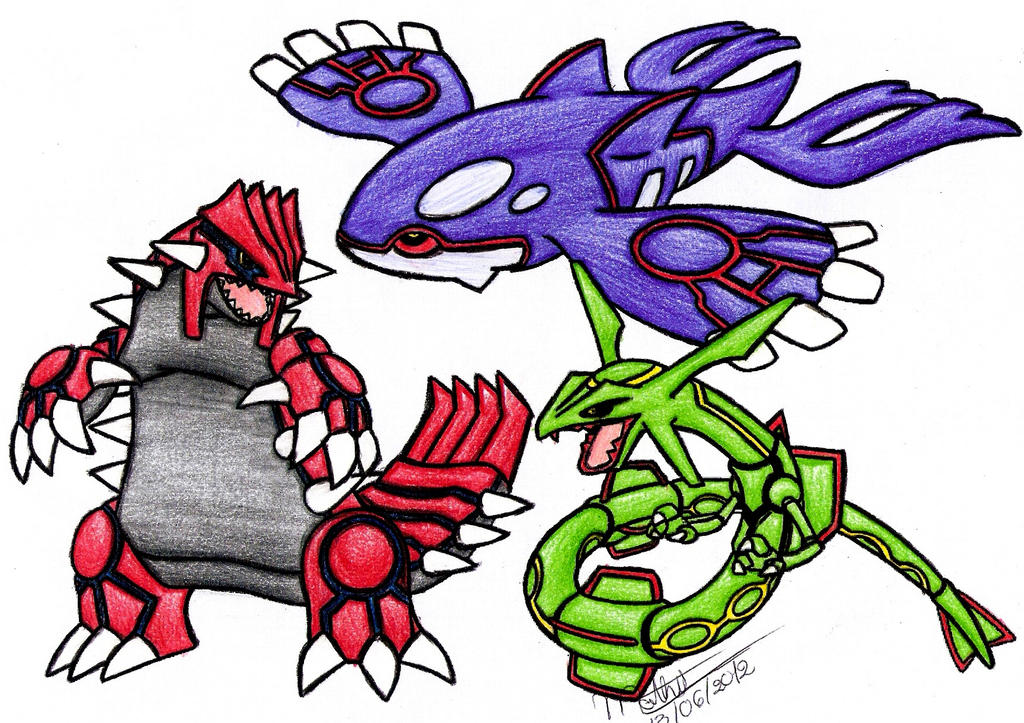 Groudon kyogre e rayquaza by walbron on deviantart - Pictures of groudon and kyogre ...