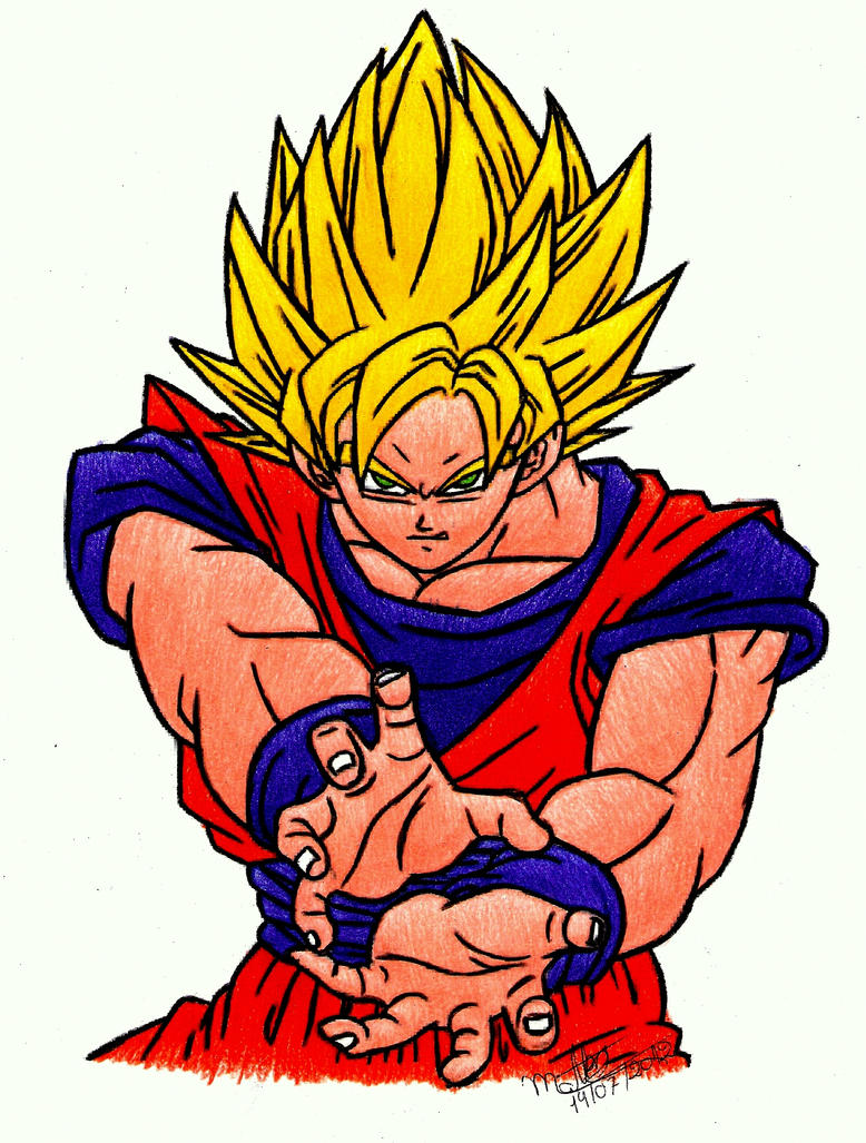 Goku ssj2 Dragon Ball Z by Walbron on DeviantArt